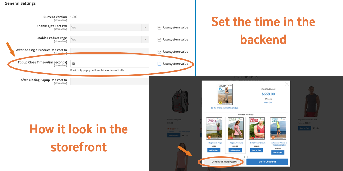 Magento 2 Ajax Cart | Set countdown time