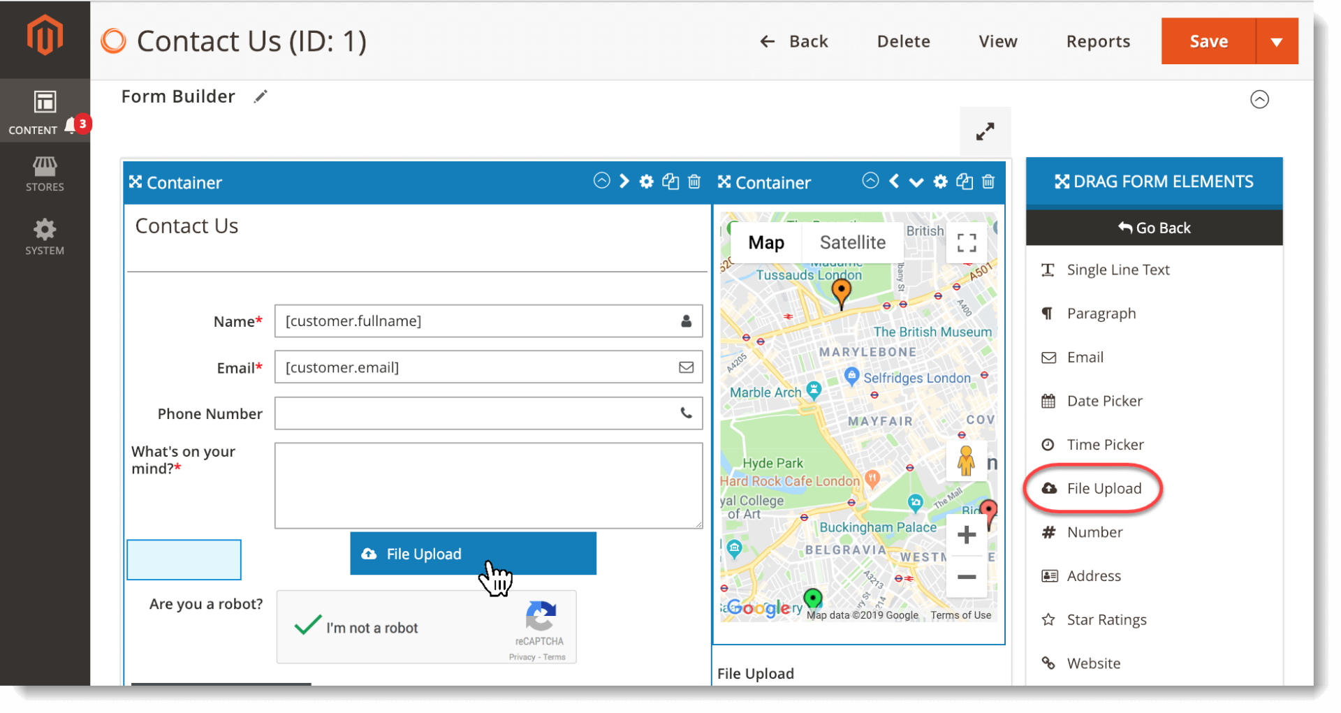 Magento 2 form builder extension   Drag and drop file upload element