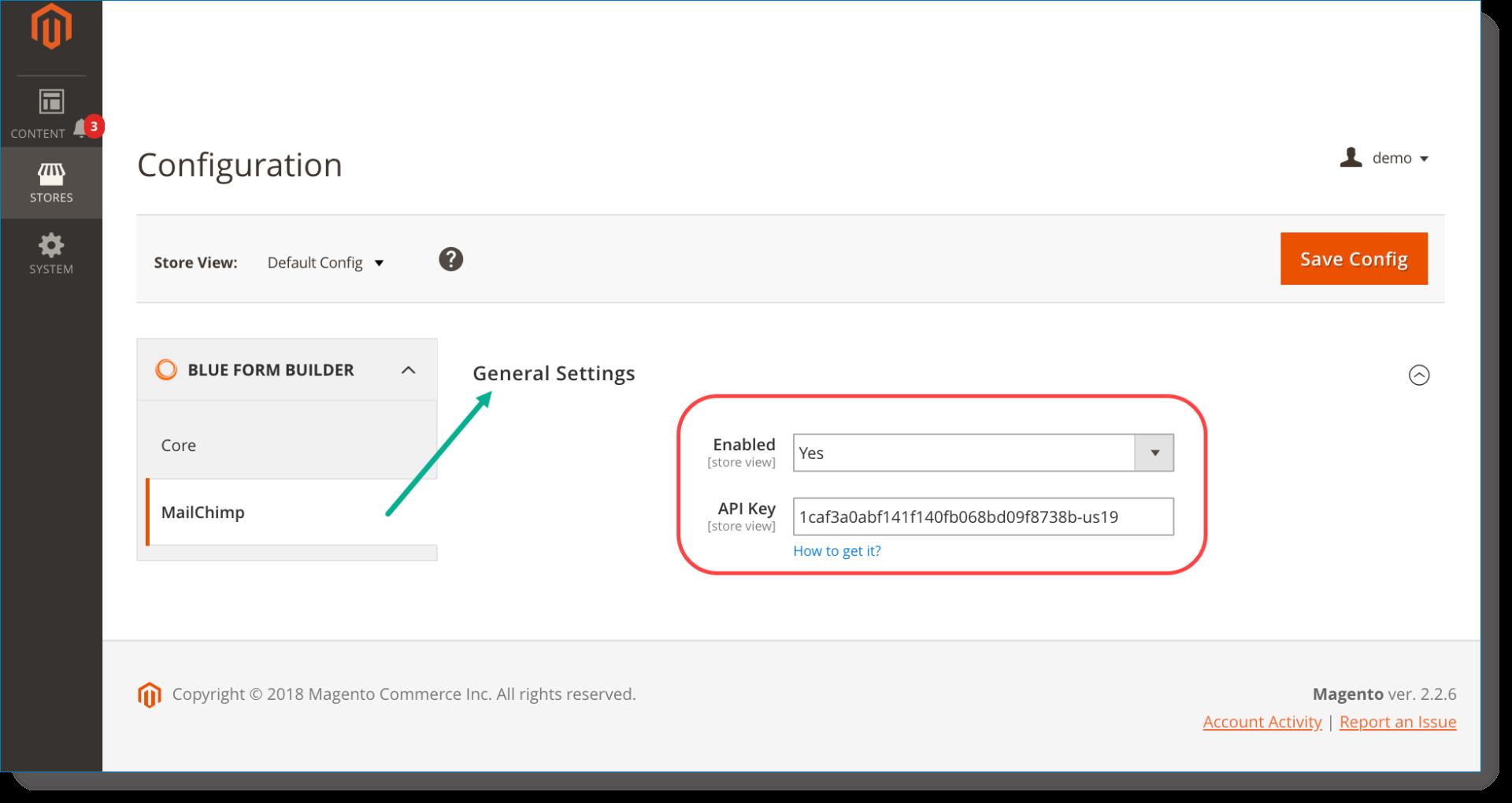 MailChimp | Enter API key