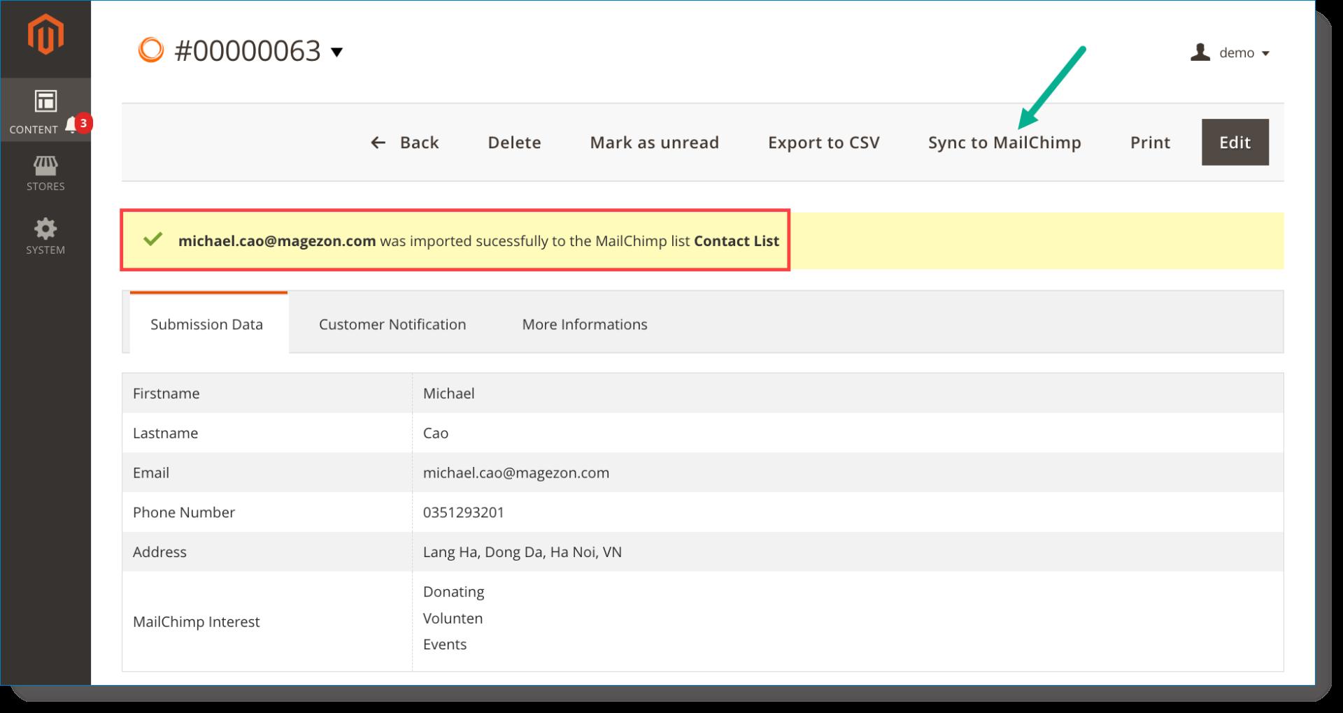 MailChimp | Test the plugin