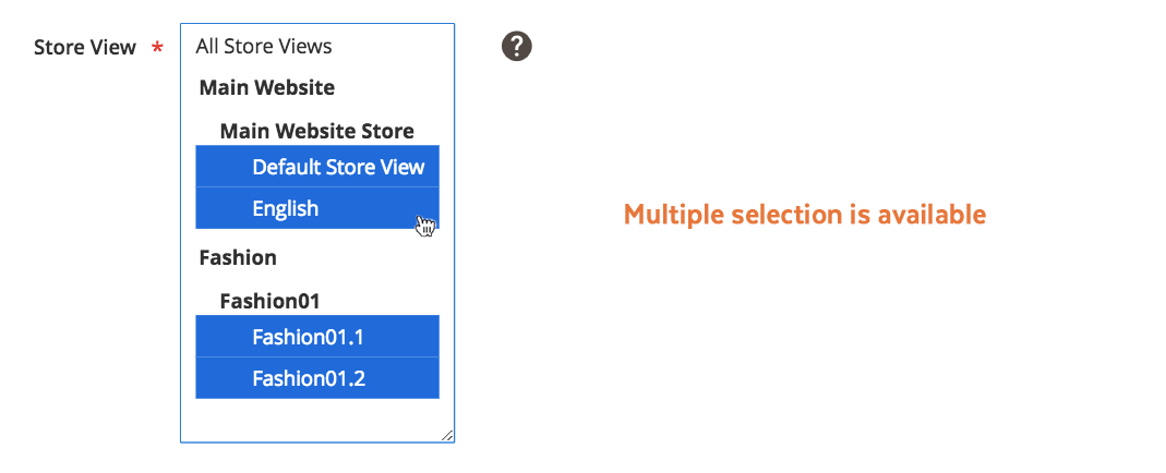 Magento 2 Tabs | Multiple store views