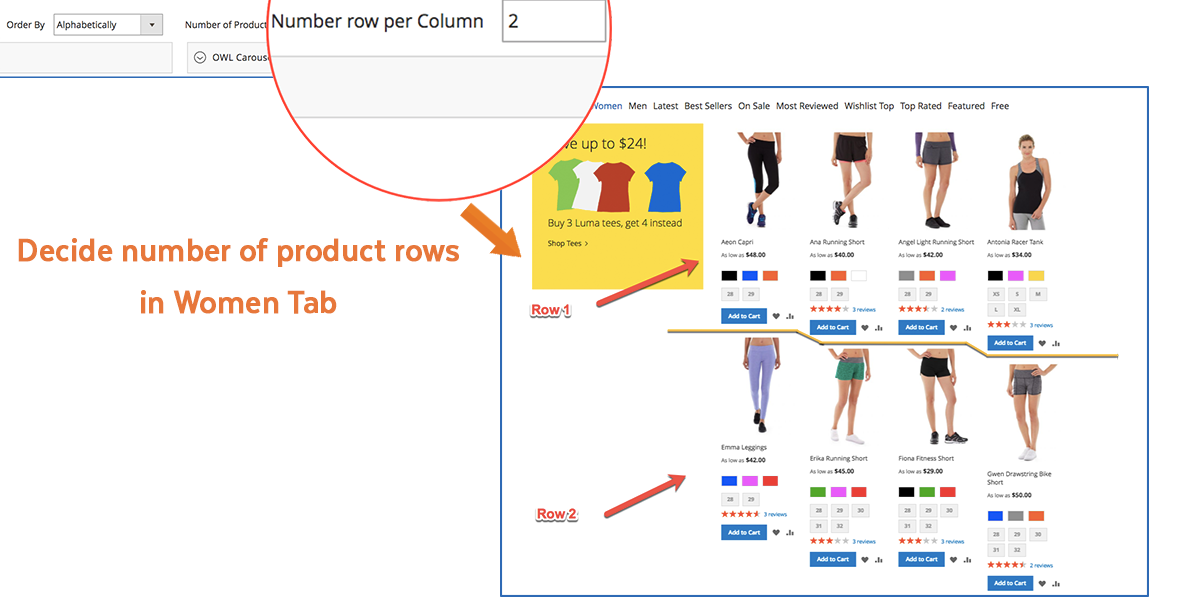 Magento 2 Tabs | Product Row