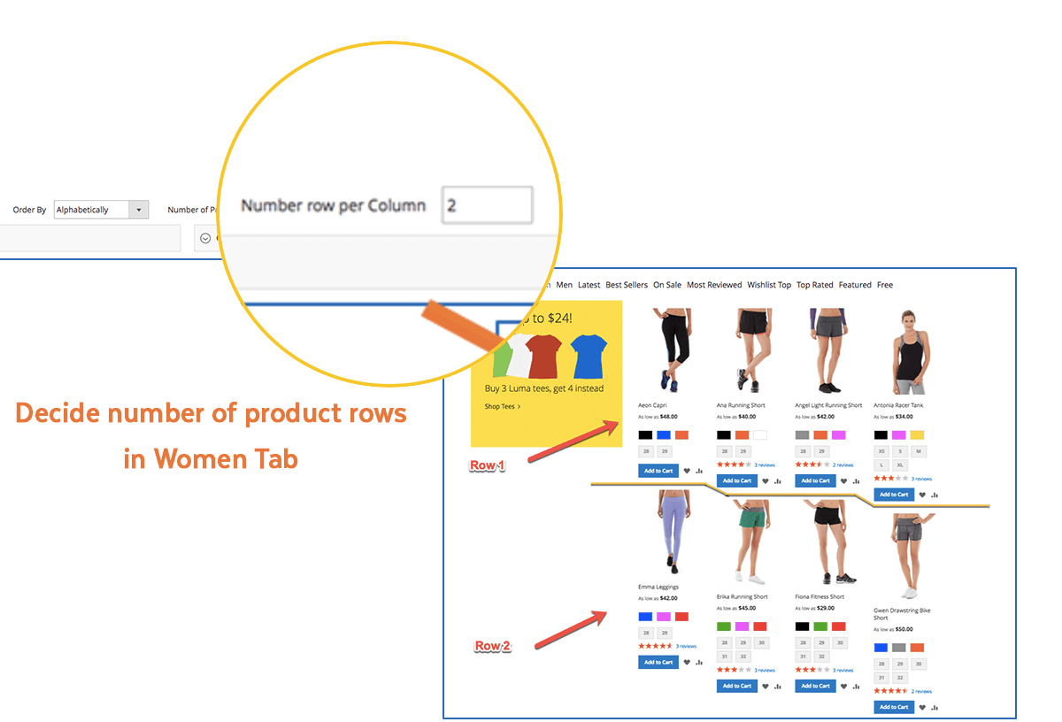 Magento 2 Tabs | Support multiple rows
